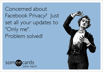Facebook privacy e-card