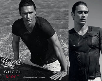 James Franco Wet in a Gucci Ad