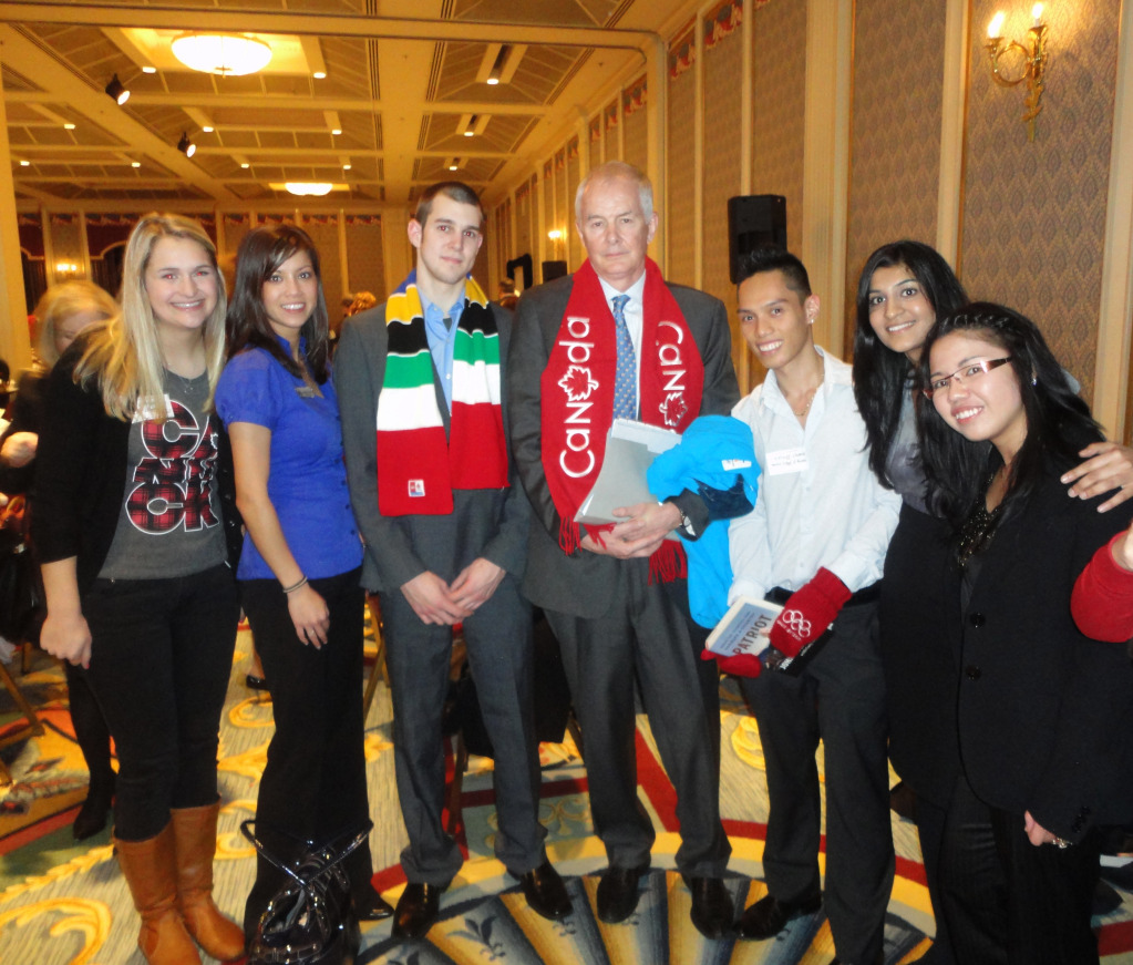 John Furlong met some lucky mentees from the Leaders of Tomorrow Mentorship Program