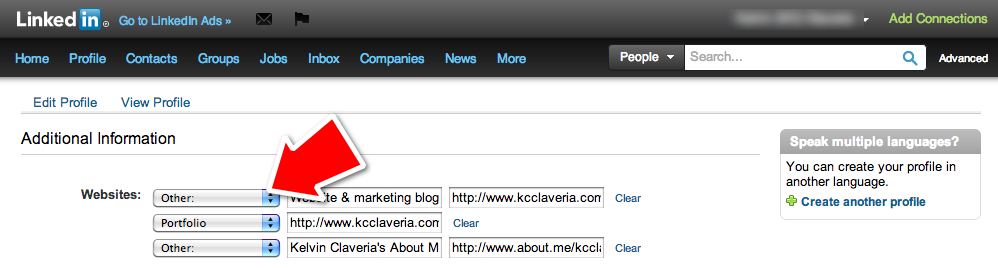 Customize links on your LinkedIn profile