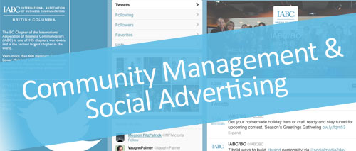 Community management & social advertising - Digital Marketing in Vancouver, B.C.