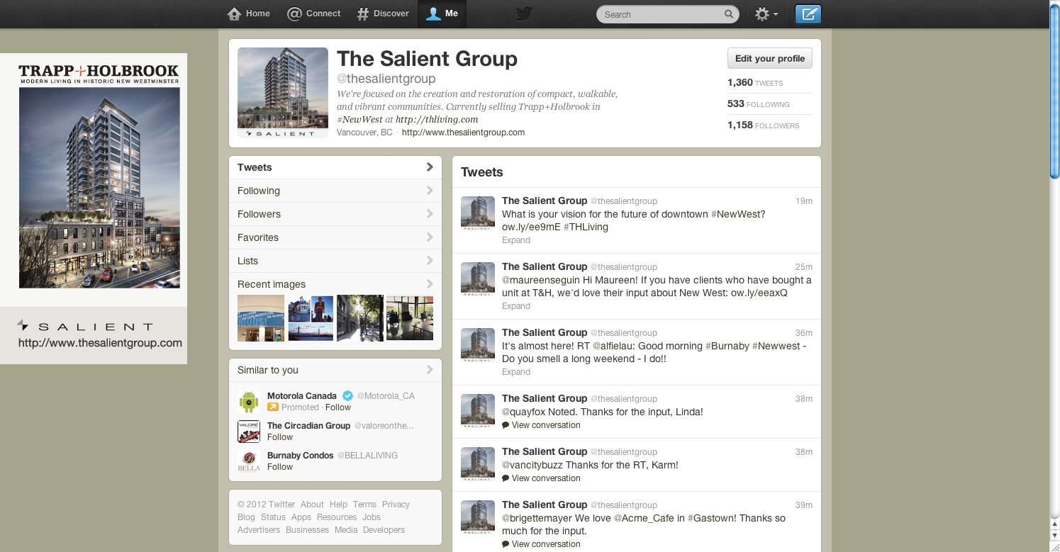 Twitter makeover - before