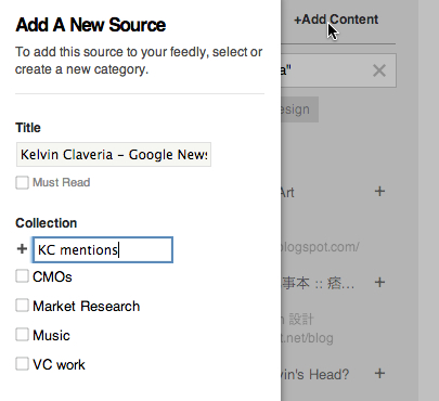 add a new source on feedly