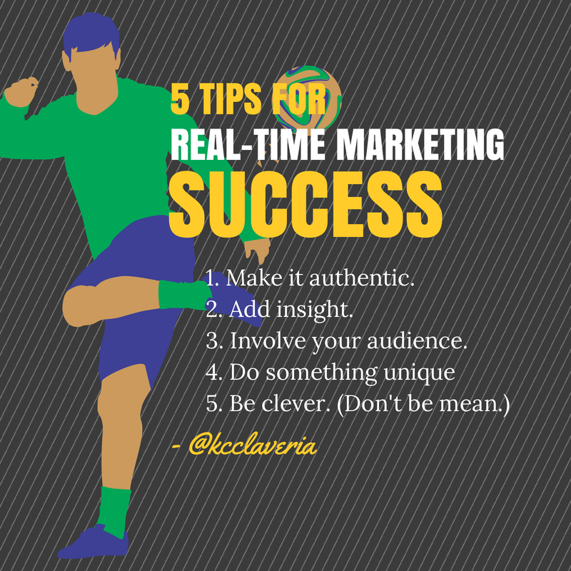 Real-time marketing success