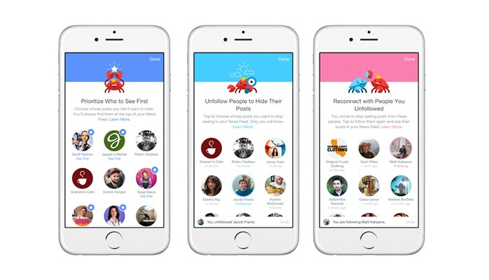 Facebook gives users more control over their news feed