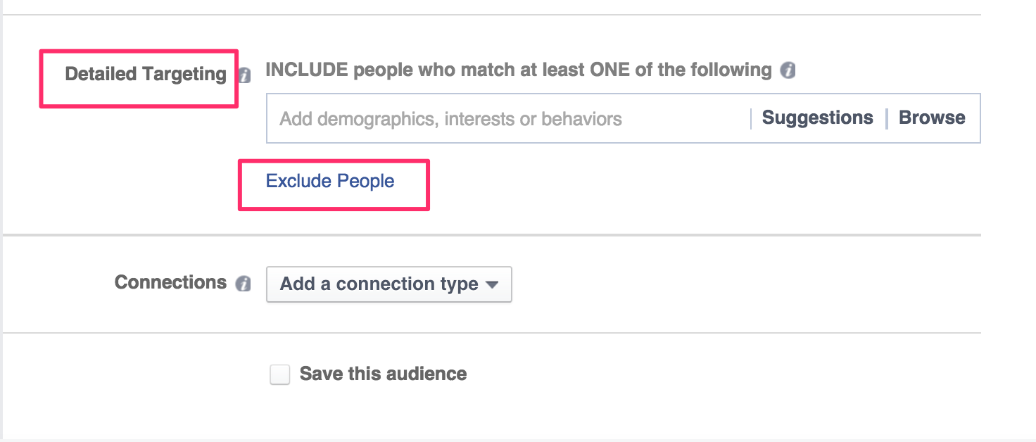 Facebook ad hack: Exclude your competitors' employees